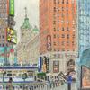 Elise Engler, W.43-42/42-41st Street (December), 2014-15
