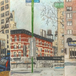 Elise Engler, W.77-76/76-75/75th Street (March/February), 2014-15
