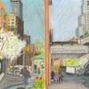 Elise Engler,  W.97th-96/96-95/95-94th Street (April), 2014-15
