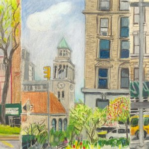 Elise Engler, W.100-99/99-98/98-97th Street (May/April), 2014-15