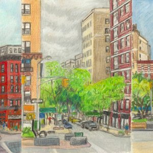 Elise Engler, W.109-108/ 108-107/ 107-106th Street (May 18), 2014-15