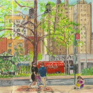 Elise Engler, W.110-109th Street (May), 2014-15