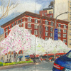 Elise Engler, W.112-111th Street (April), 2014-15