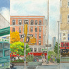 Elise Engler, W.166-165/165-164/164-163rd Street (October), 2014-15