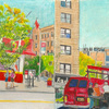 Elise Engler, W.172-171/171-170/170-169th Street (September), 2014-15