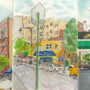 Elise Engler, 204th-Academy St/Academy to Cumming St/Cumming to Dyckman Street (June), 2014-15