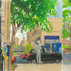 Elise Engler, 215-214/214-213/213-212th Street (May/June), 2014-15