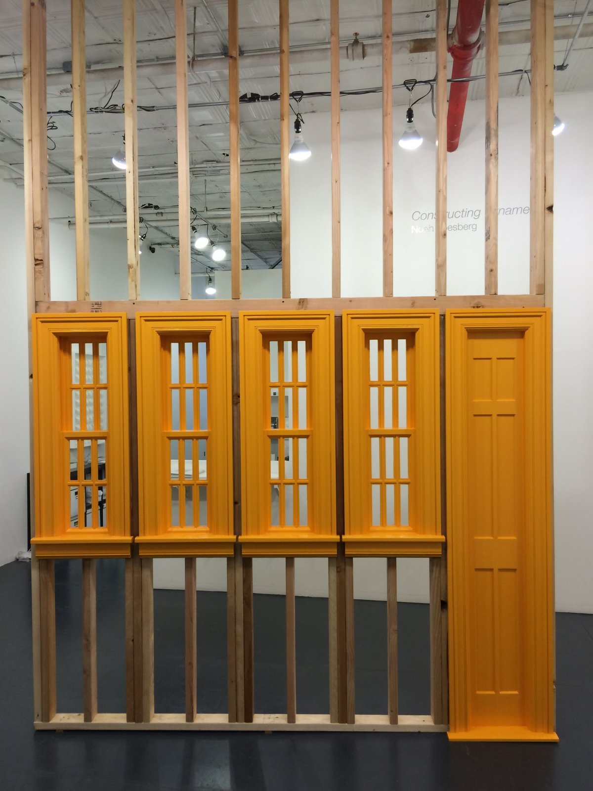 Noah Loesberg, Four Windows, One Door, 2015-16