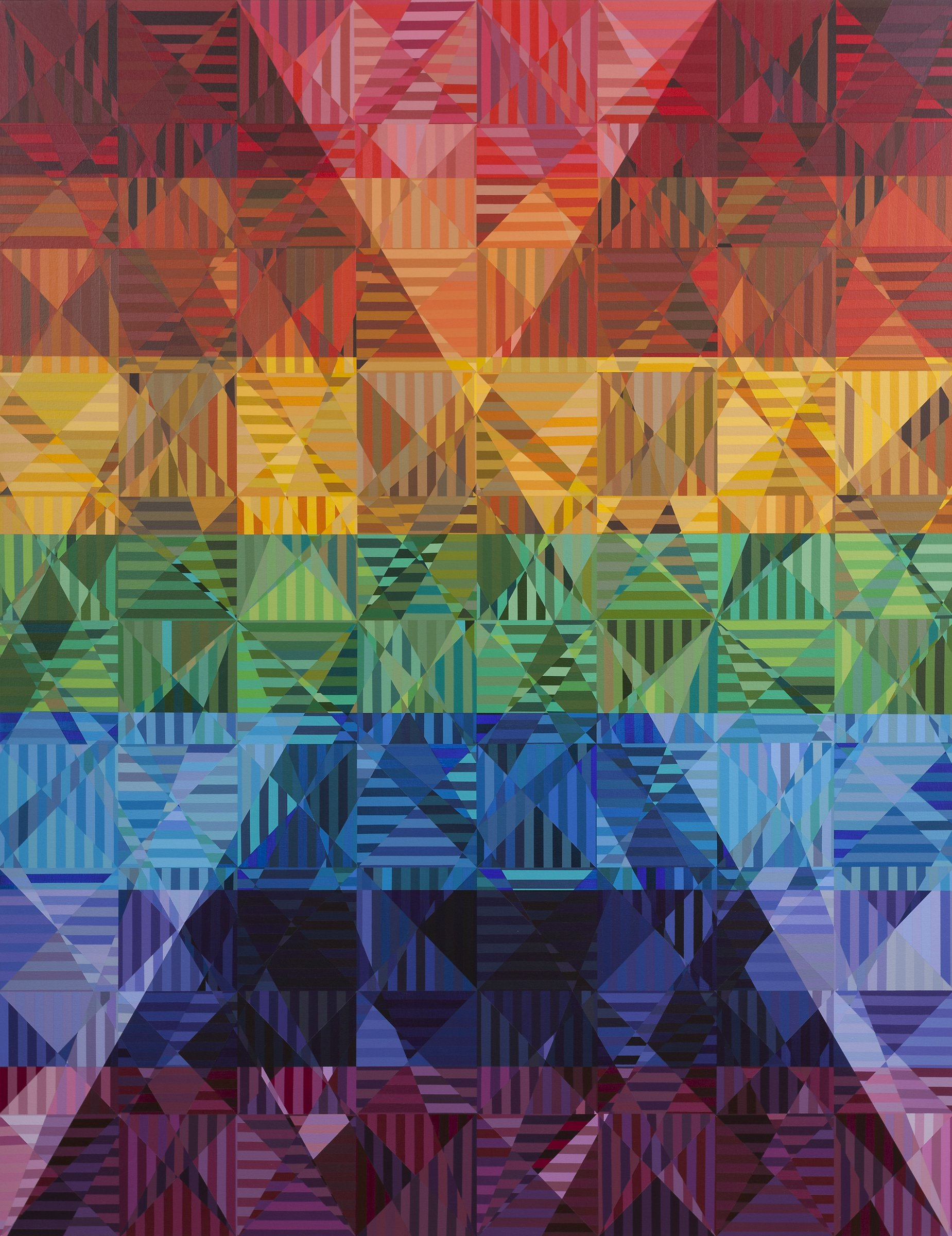Jerry Walden, Hundred Sixty Five (Chevrons and Sevens), 2015