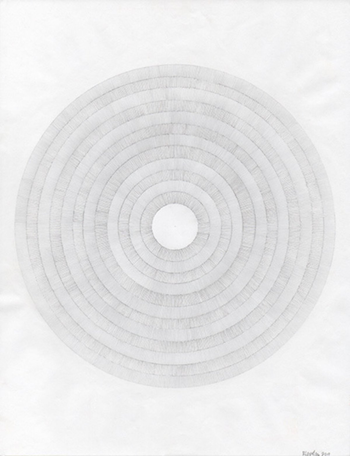 Robert Lansden, Untitled (Graphite Circles), 2010