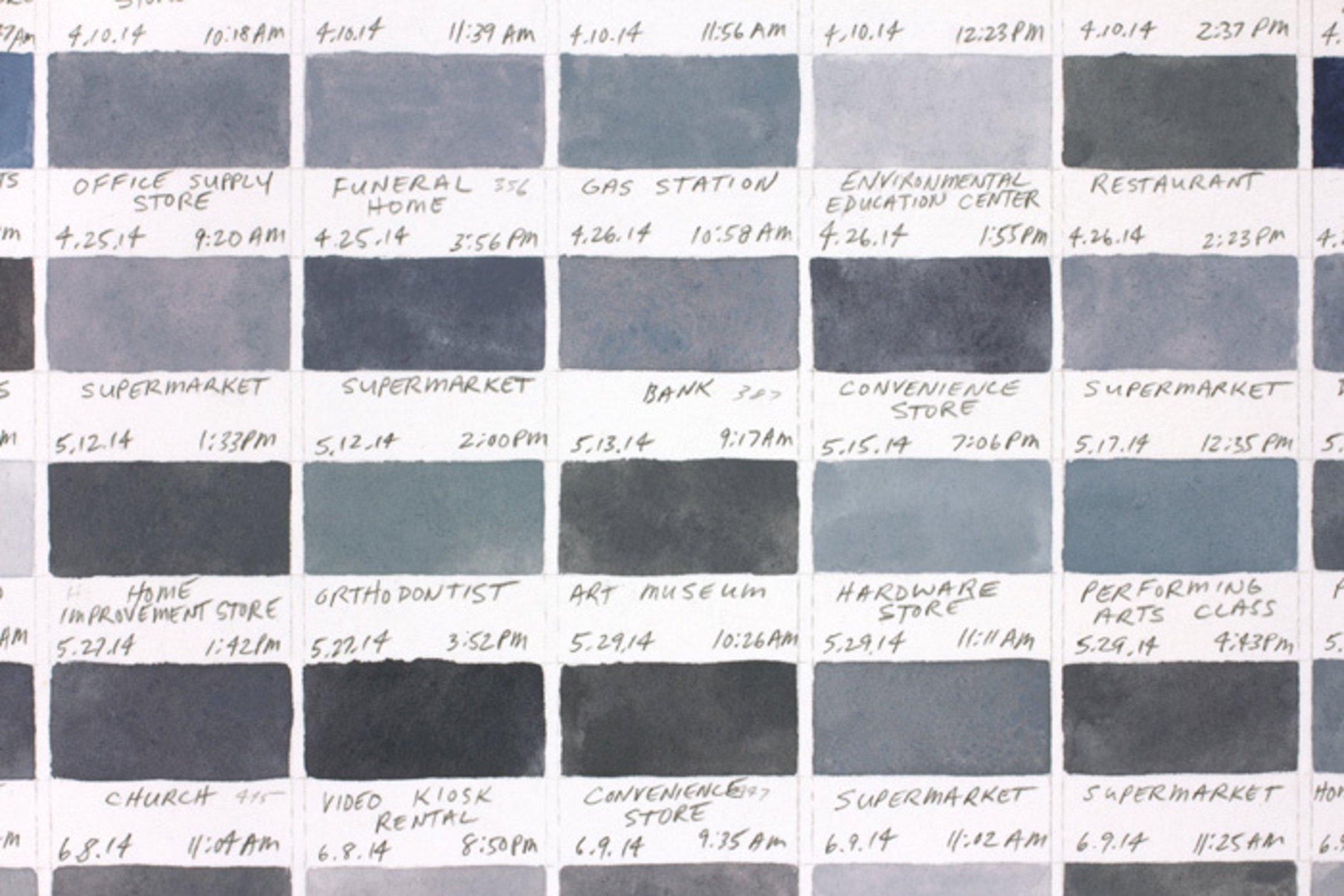 Richard Garrison, Parking Space Color Scheme (January 2 -September 26, 2014), 2015-2016