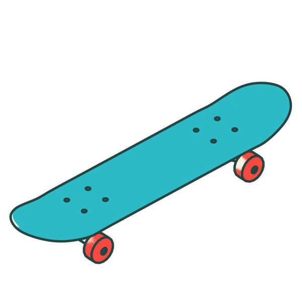 Skateboardtop color a