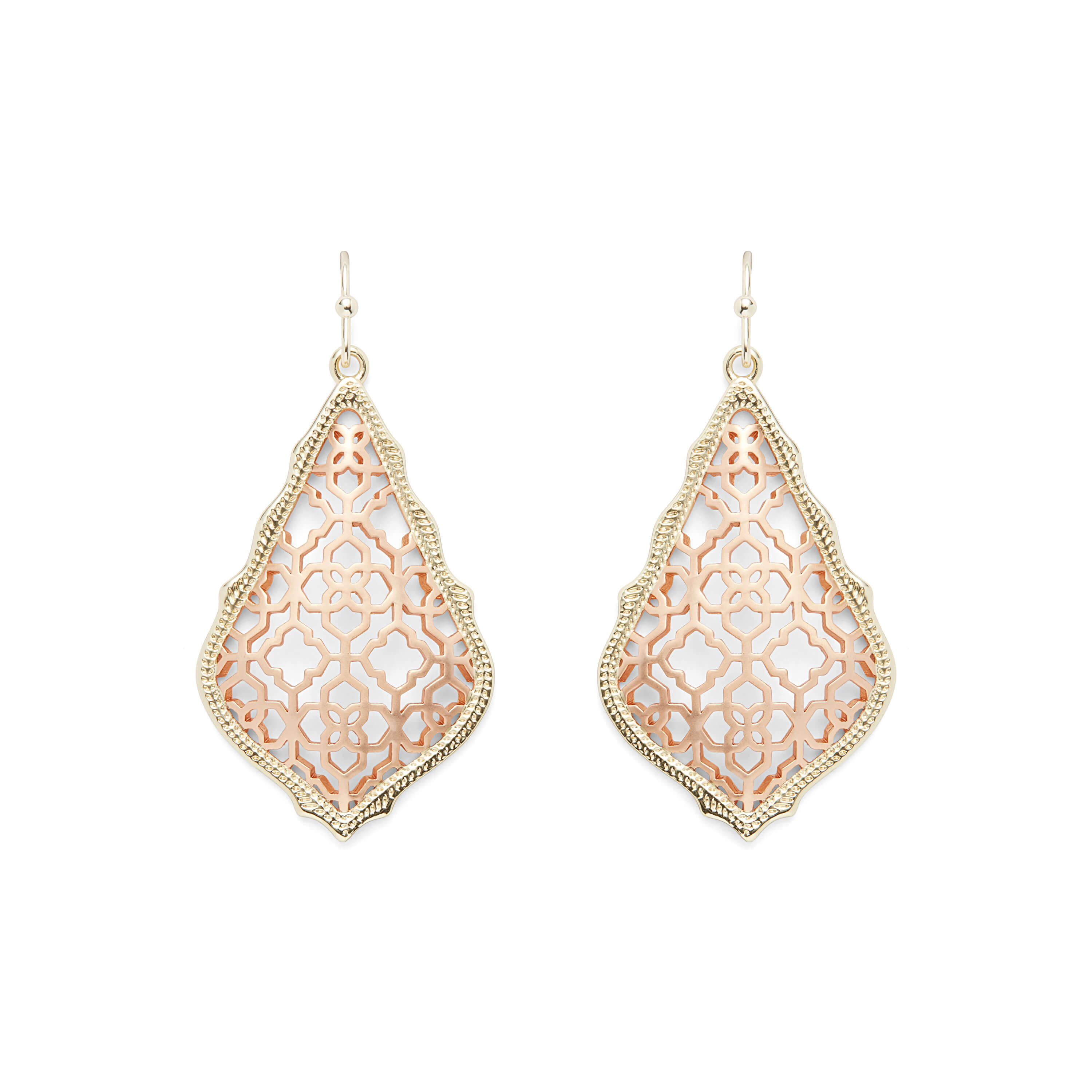 Addie Earrings in Gold and Rose Gold