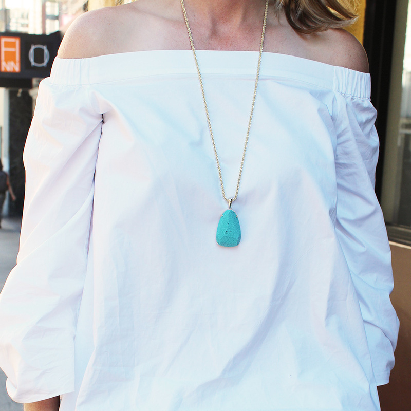 User Generated Content for Kendra Scott Sandra Necklace in Turquoise Magnesite
