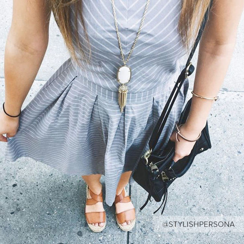 User Generated Content for Kendra Scott Rayne Necklace in White Pearl