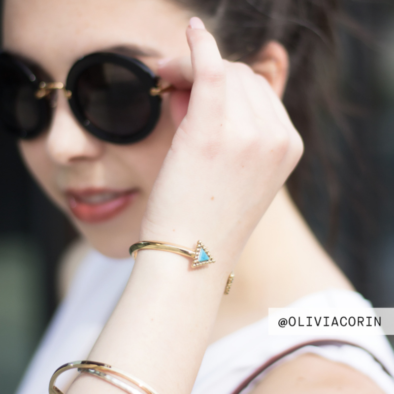 User Generated Content for House of Harlow 1960 Native Legend Cuff in Turquoise