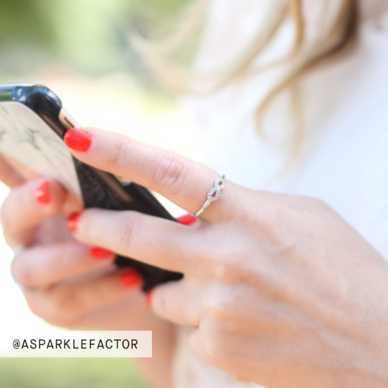 User Generated Content for Sophie Harper Pavé Infinity Ring in Silver