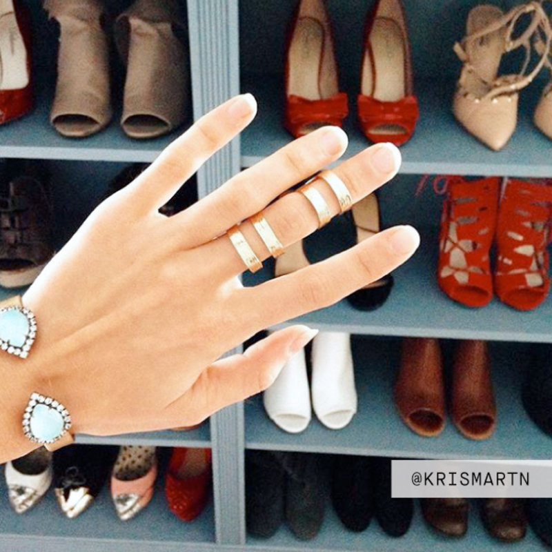 User Generated Content for SLATE Double Bar Ring Set