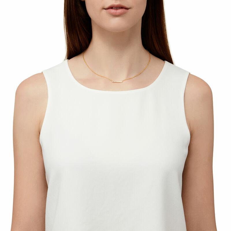 Model Content for Gorjana Knox Pavé Bar Necklace