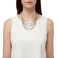 Model Content for Jenny Bird Palm Cili Collar in Silver