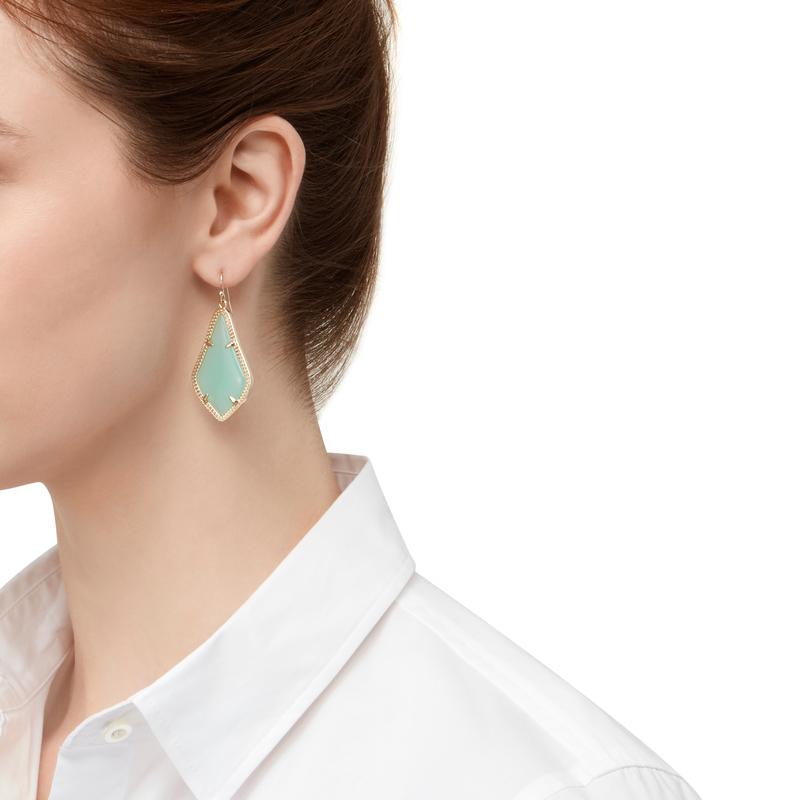 Model Content for Kendra Scott Alex Earrings in Chalcedony