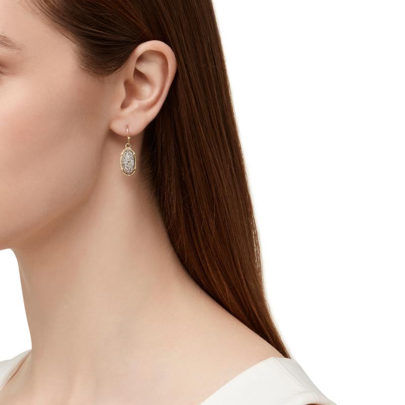Model Content for Kendra Scott Lee Earrings in Platinum Drusy