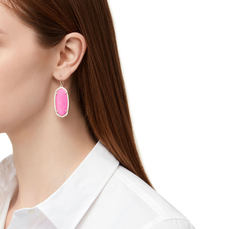 Model Content for Kendra Scott Elle Earrings in Magenta
