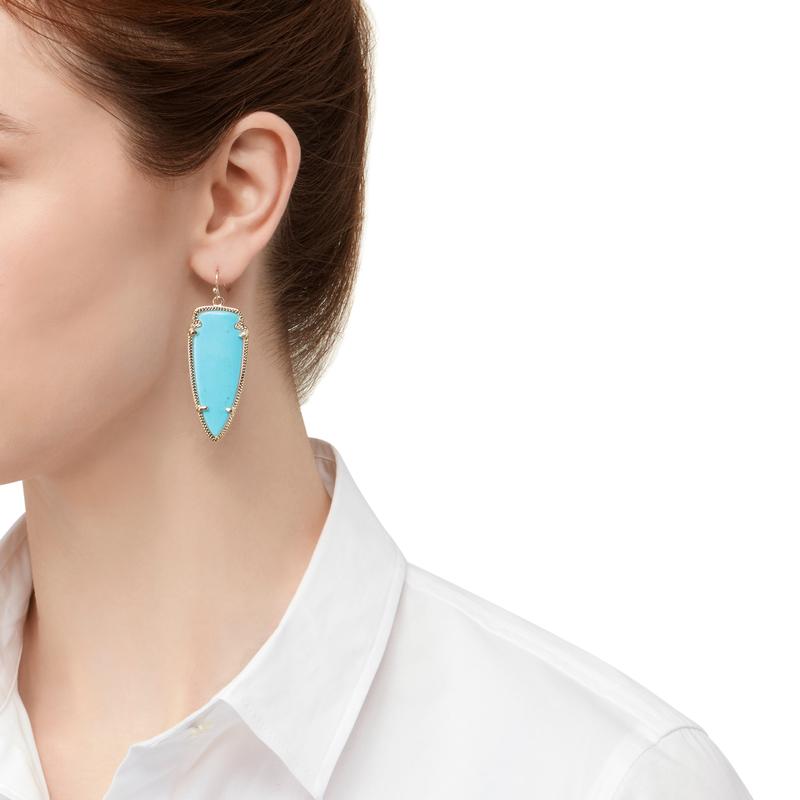 Model Content for Kendra Scott Skylar Earrings in Turquoise