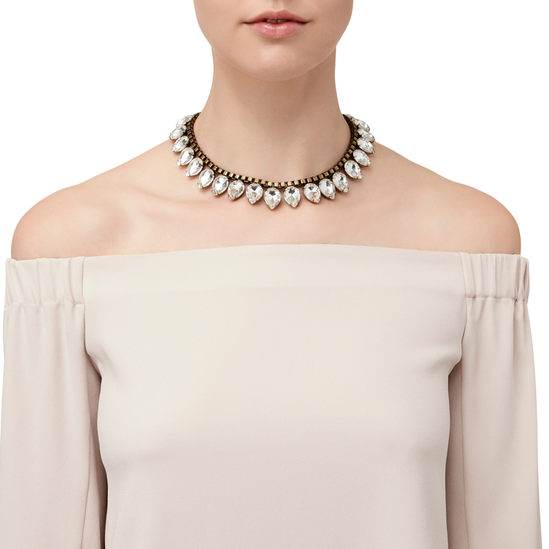 Model Content for Loren Hope Sylvia Necklace in Crystal