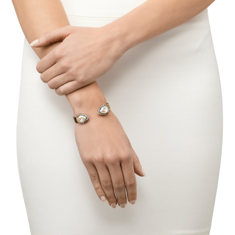 Model Content for Loren Hope Small Sarra Cuff in Iridescent
