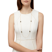 Model Content for Olivia & Grace Avery Necklace in Black Quartz
