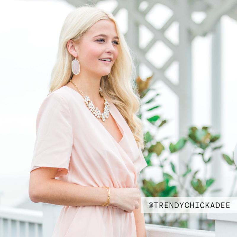 User Generated Content for Kendra Scott Danielle Earrings in Rose Quartz