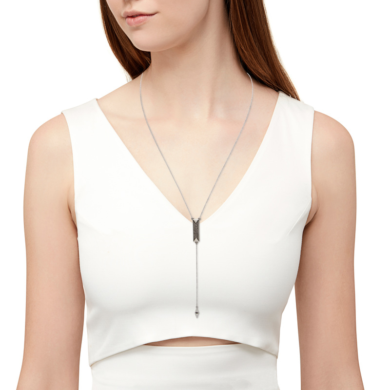 User Generated Content for House of Harlow 1960 Dakota Drop Y Necklace in Silver