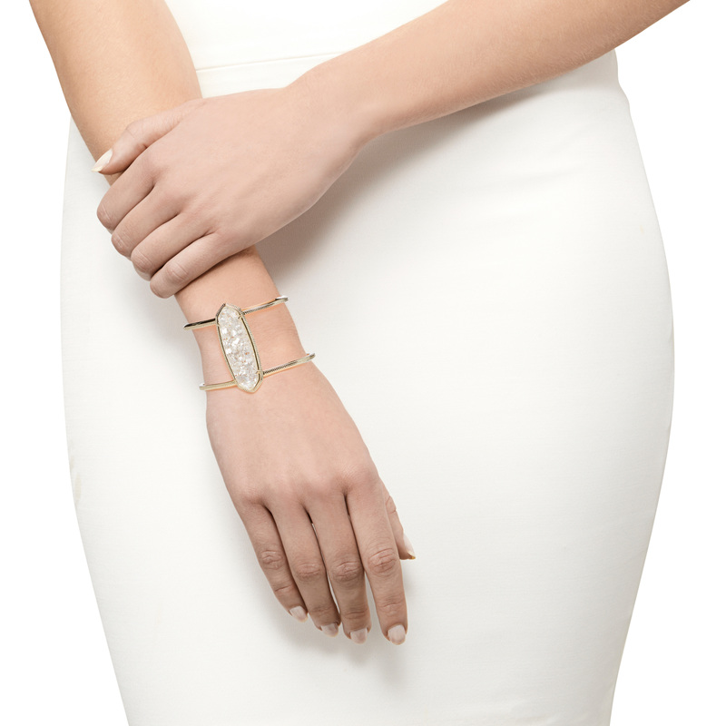 Model Content for Kendra Scott Lawson Cuff in Crushed Ivory Pearl