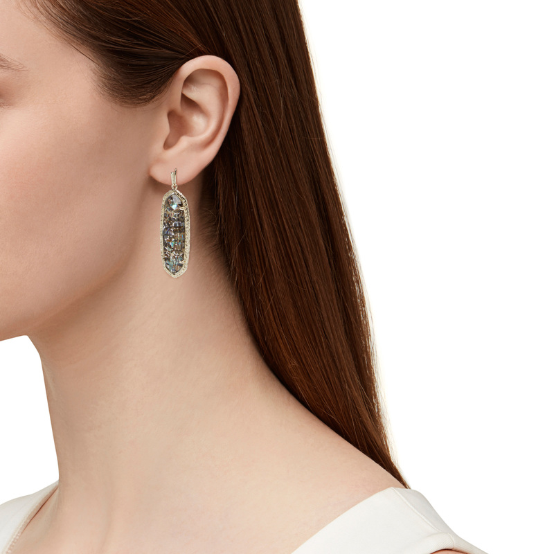 Model Content for Kendra Scott Lauren Earrings in Crushed Abalone