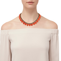Model Content for Loren Hope Sylvia Necklace in Paradise Red