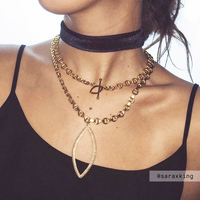 User Generated Content for Luv AJ Marquise Statement Necklace in Gold