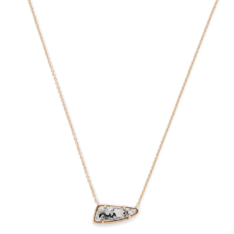 Kendra Scott Etta Necklace in Gray Granite