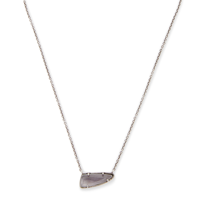Kendra Scott Etta Necklace in Gray Mother of Pearl