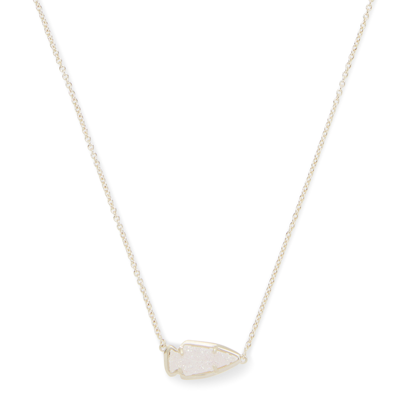 Kendra Scott Kasey Necklace in Gold Iridescent Drusy