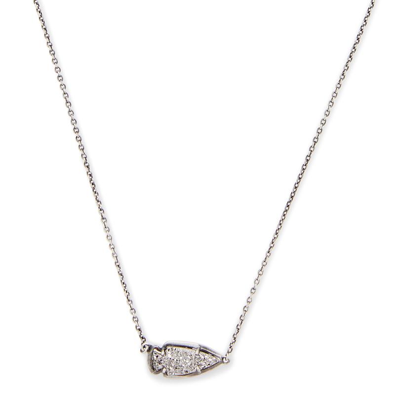Kendra Scott Kasey Necklace in Platinum Drusy