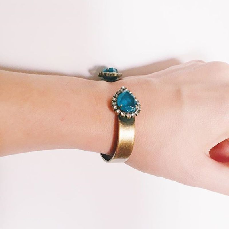 User Generated Content for Loren Hope Small Sarra Cuff in Deep Sea