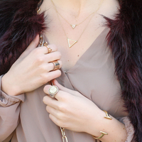 User Generated Content for House of Harlow 1960 Temple Pave Necklace in Rose Quartz