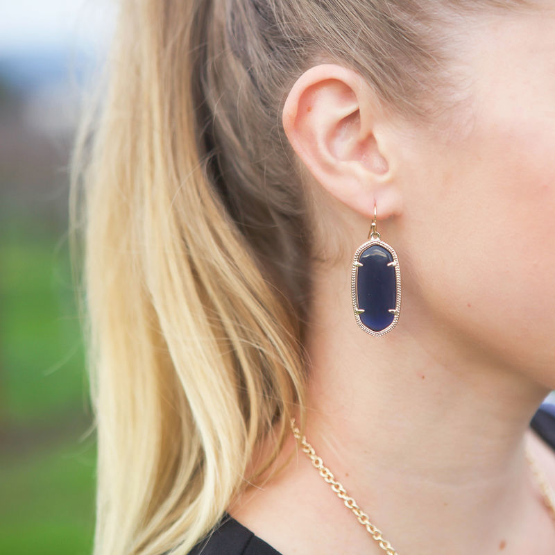 User Generated Content for Kendra Scott Elle Earrings in Navy