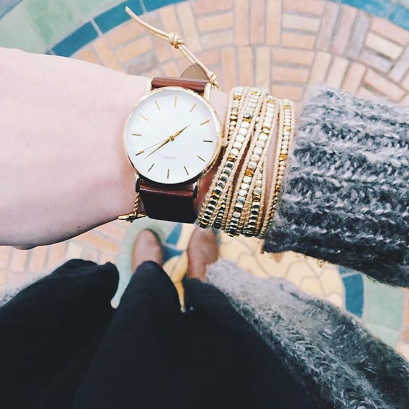 User Generated Content for Nakamol Cream & Gold Wrap Bracelet