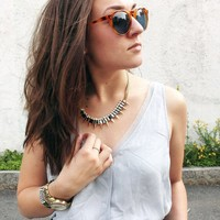 User Generated Content for SLATE Spiked Out Necklace in Gold