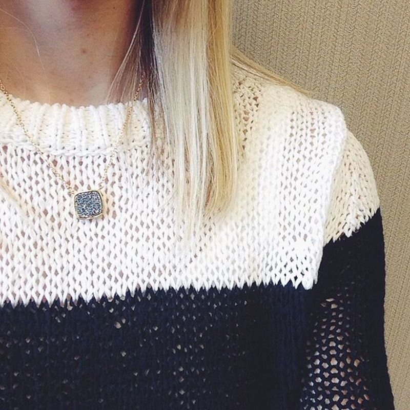 User Generated Content for Elise M Athena Necklace in Silver Druzy