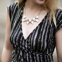 User Generated Content for SLATE Marble Triangle Necklace