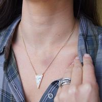 User Generated Content for SLATE Daphne Triangle Pendant in Howlite