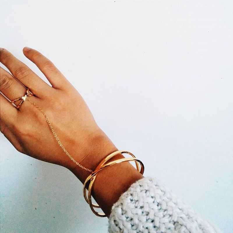 User Generated Content for Gorjana Elea Ring to Wrist Cuff